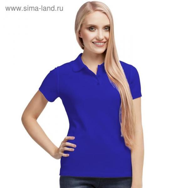 Рубашка-поло женская StanPoli, размер 46, цвет синий 180 г/м