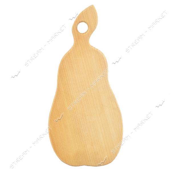 Доска деревянная фигурная большая Груша 38х20.5 см