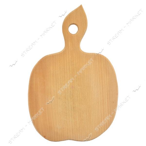 Доска деревянная фигурная маленькая Яблоко 24х15 см