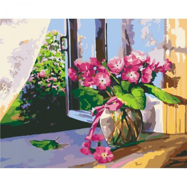 """Картина по номерам. Цветы """"Летнее утро"""" 40*50 KHO2929"""