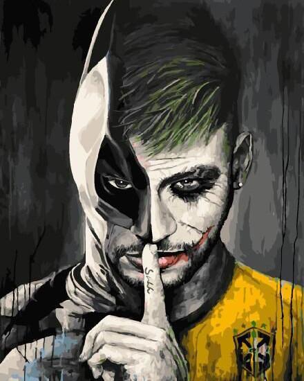 "Картина по номерам. Brushme ""Неймар в обличии Бэтмена"" GX29270"
