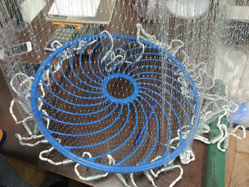 Кастинговая сеть, парашют американского типа, с кольцом Фрисби из лески