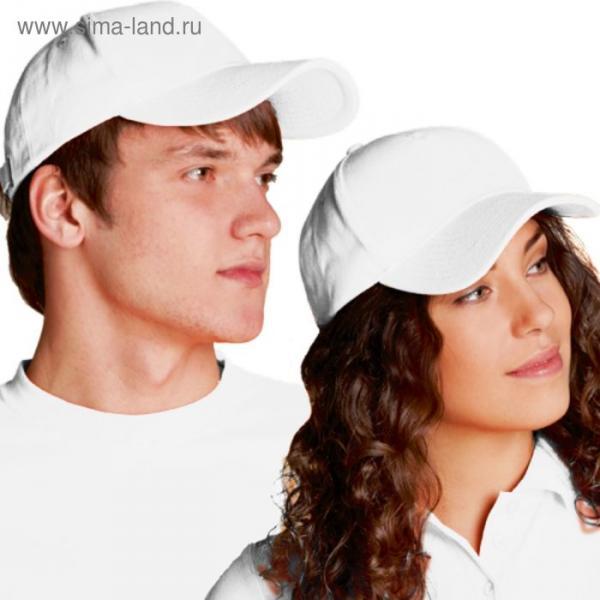 Бейсболка StanComfort, one size, цвет белый 200 г/м
