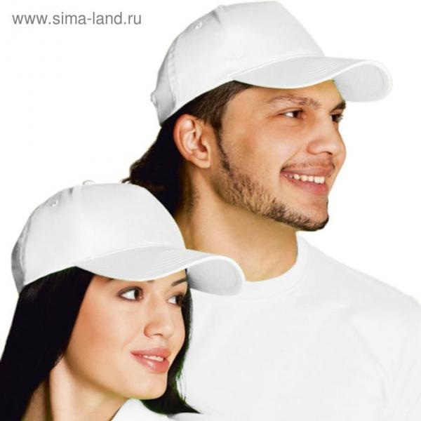 Бейсболка StanClassic, one size, цвет белый 150 г/м