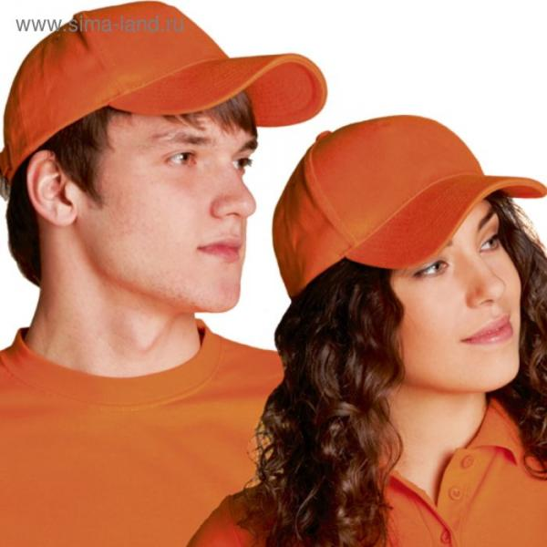 Бейсболка StanComfort, one size, цвет оранжевый 200 г/м