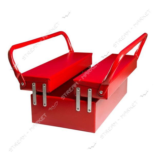 Ящик для инструмента металлический 3 отделения 440 мм