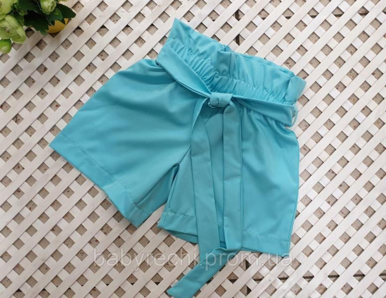 Стильные шорты для девочек на резинке