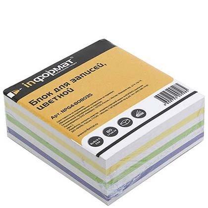 Блок бумаги для заметок «Куб» 80*80*35 мм, проклеенный, 3 цвета