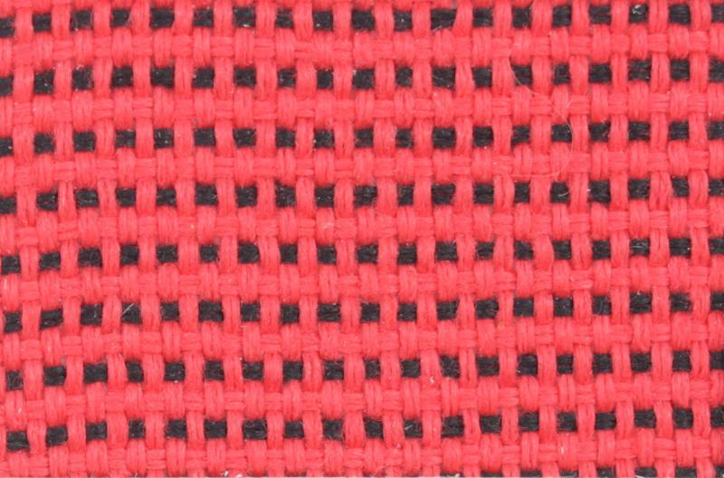 Стул офисный Prestige для персонала обивка - красная+черная ткань, С16