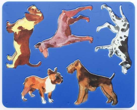 Трафарет фигурный для рисования «Луч» 200*165 мм, «Породы собак»
