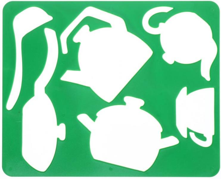 Трафарет фигурный для рисования «Луч» 200*165 мм, «Посуда»