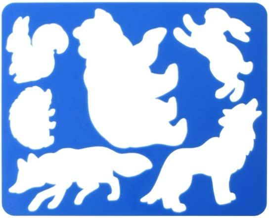 Трафарет фигурный для рисования «Луч» 200*165 мм, «Лесные звери»