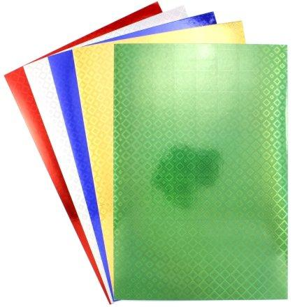 Картон цветной односторонний А4 «Каляка-Маляка» 5 цветов, 5 л., фольгированный, голографический