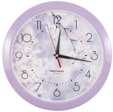 Часы настенные «Тройка» «Весенние цветы»