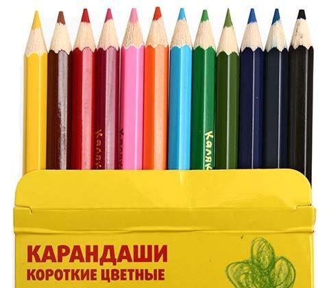 Карандаши цветные «Каляка-Маляка» 12 цветов, длина 87 мм