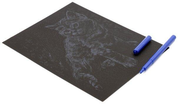 Набор для творчества «Гравюра. Животные» «Котенок», с эффектом золотистого металлика