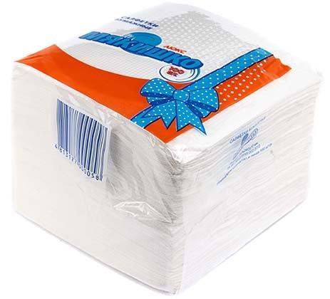 Салфетки сервировочные «Мякишко» 25*25 см, 100 шт., белые
