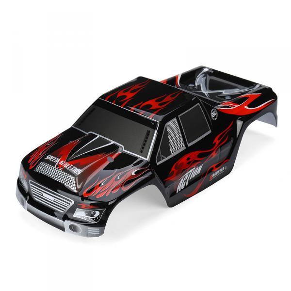 Корка-кузов A979-04 для машинки Wltoys A979 1/18, цвет черный с красным.