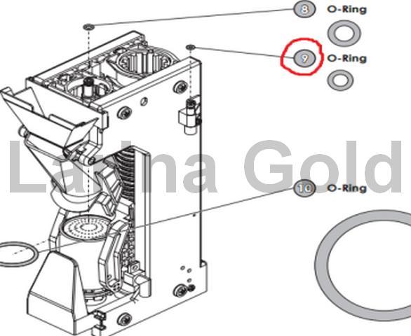 Уплотнительное кольцо WMF  (1300, 1400, 2000S, BISTRO, Presto GV, PF, CNF, CAFEMAT)