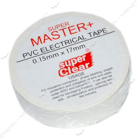 Изолента ПВХ Master 17х0.13мм 21м белая