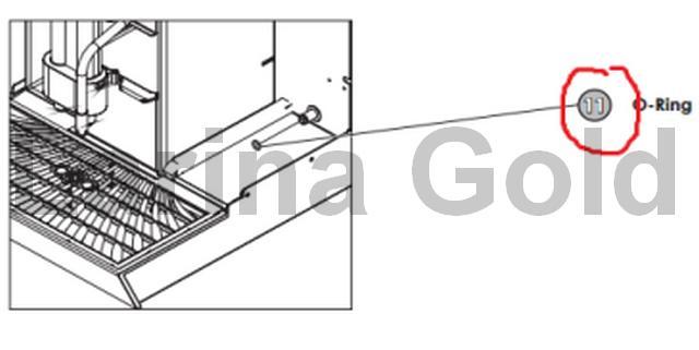 Уплотнительное кольцо на шток водяного бака  WMF  (1300, 1400, 2000S, BISTRO, Presto GV, PF, CNF, CAFEMAT)