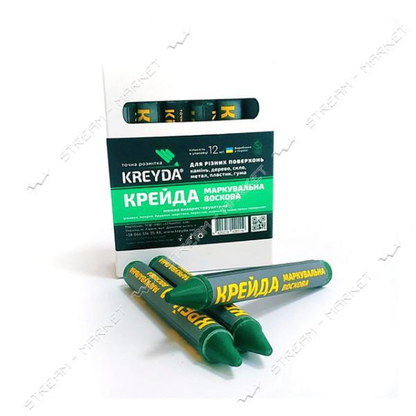 Мел маркировочный KREYDA зеленый 12шт