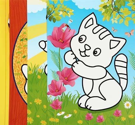Книжка-раскраска «Раскрась пластилином» А4, 4 картинки, «Домашние любимцы»