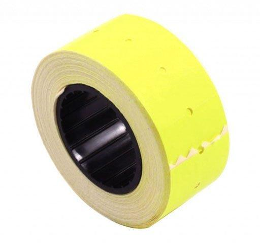 Этикет-лента однострочная 21*12 мм, прямоугольная, желтая
