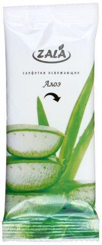 Салфетки влажные Zala 10 шт., «Алое и зеленый чай»