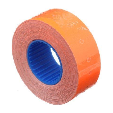 Этикет-лента однострочная Economix 21*12 мм, 1000 шт., прямоугольная, оранжевая