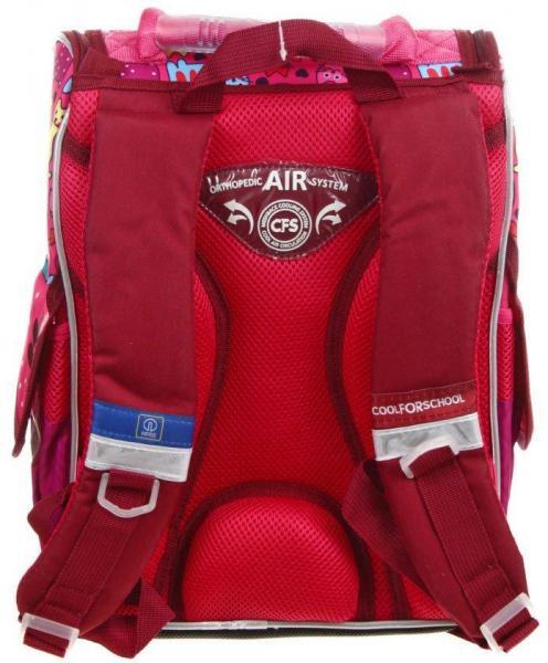 Рюкзак школьный каркасный Cats 340*260*130 мм, розовый