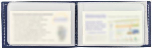 Визитница Forpus 112*70 мм, 1 карман, 20 листов, темно-синяя