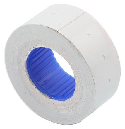 Этикет-лента однострочная 21*12 мм, прямоугольная, белая