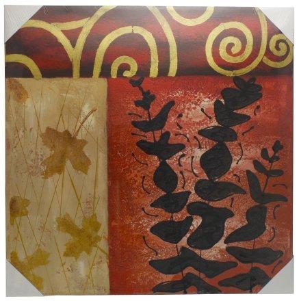 Картина (репродукция) 60*60 см, без рамки, «Листья»