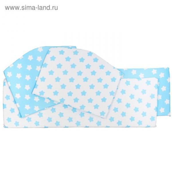 Бортики в кроватку Stelle turchese, 4 части, цвет бирюзовый