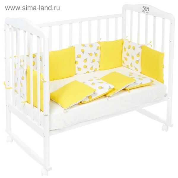 Бортики в кроватку Gelato giallo, 12 частей, цвет жёлтый