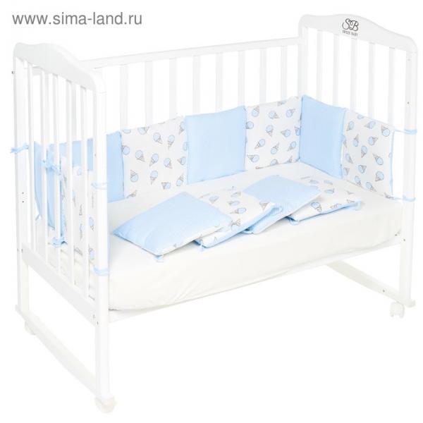 Бортики в кроватку Gelato blu, 12 частей, цвет голубой