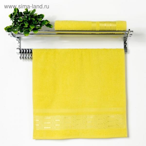 "Полотенце махровое ""Premier"" 70х130 см, лимонный, 380 гр/м2, 100% хлопок"