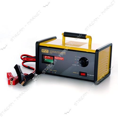 Пуско-зарядное устройство СИЛА 900211 12-24 V/15 A стрелочный индикатор