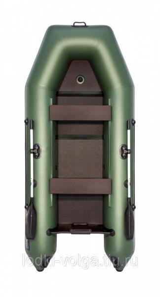 Лодка Аква 3200 Слань-книжка киль, зеленая