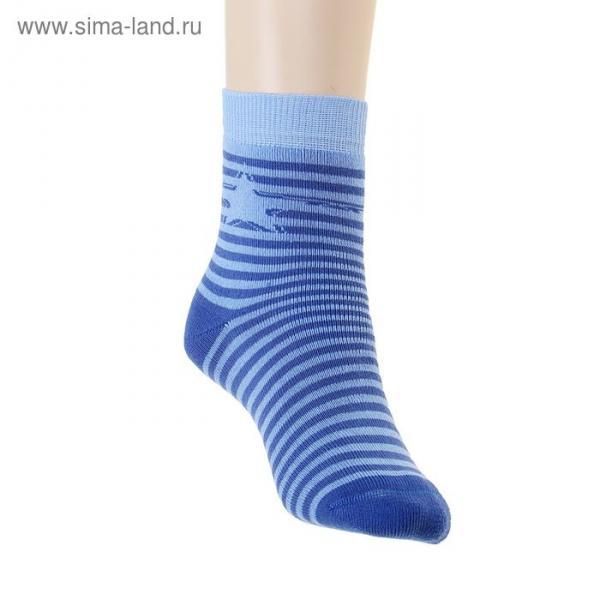 Носки детские плюшевые ПФС102-2538, цвет васильковый, р-р 20-22