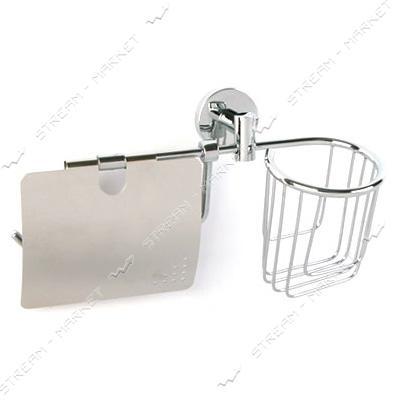 Держатель для бумаги и дезодоранта 'Двойка' для ванной комнаты F-045