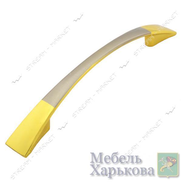 Ручка мебельная 8113 96мм золото-сатин - Мебельные ручки в Харькове