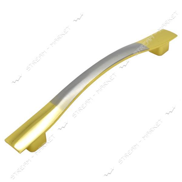 Ручка мебельная 8115 128мм золото-сатин