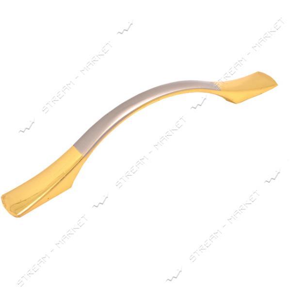 Ручка мебельная 8630-96 золото-сатин