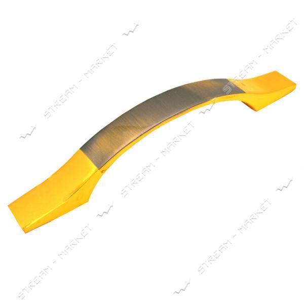 Ручка мебельная 8113 96мм золото
