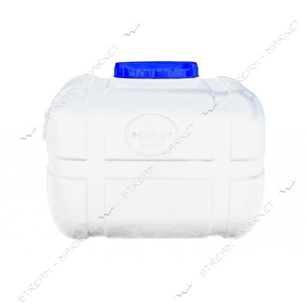 Бак пищевой Пласт Бак прямоугольный пластиковый черный 100 л