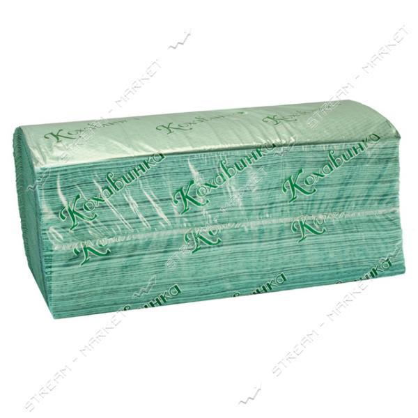 Полотенца бумажные Кохавинка в листах зеленые ZZ 200 шт