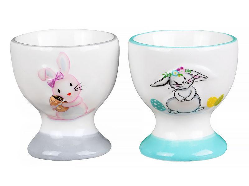 """Набор подставок под яйца """"Кролики"""" 6 см, Lefard, 940-148"""