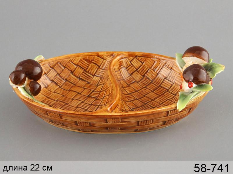 Менажница Грибная поляна 22 см, 58-741